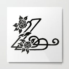Black and White Design 54 Metal Print