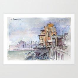 Castello sul mare Art Print