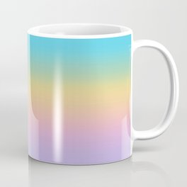 Pastel Rainbow Ombre Gradient Coffee Mug