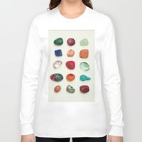 crystal Long Sleeve T-shirts featuring crystal by Michal