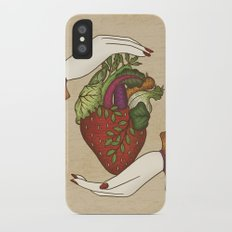 Eating is caring Slim Case iPhone X