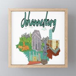 Johannesburg South Africa Framed Mini Art Print