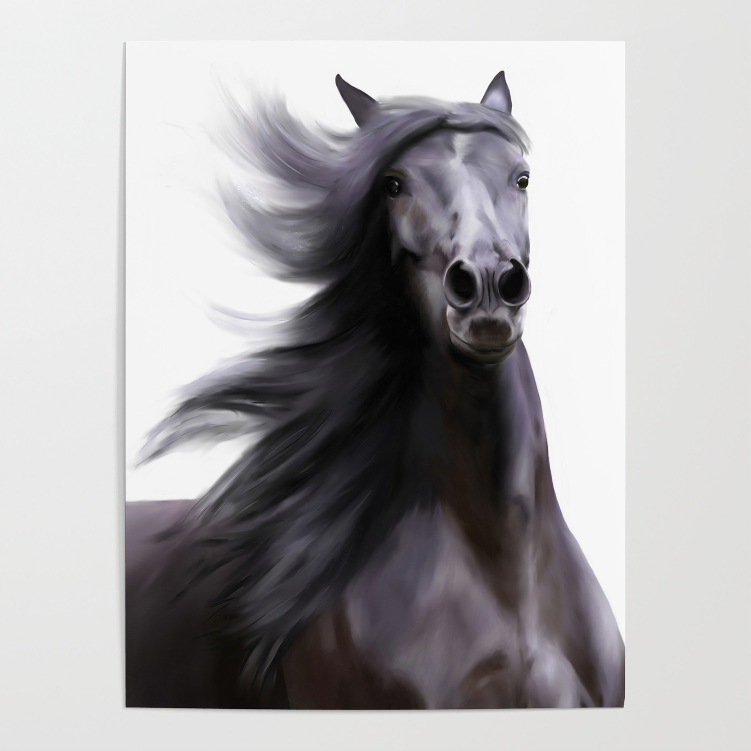 Black Running Horse Poster By Moniquelap Society6