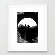 Little Princess in the Tunnel Framed Art Print