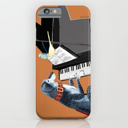 Piano lesson with Angel iPhone Case