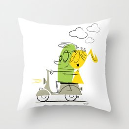 scooter ride! Throw Pillow
