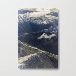 Lochy River, New Zealand Metal Print