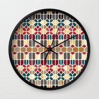 budapest Wall Clocks featuring Budapest Voronoi by Enrique Valles