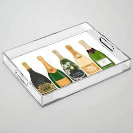 Champagne Bottles Acrylic Tray