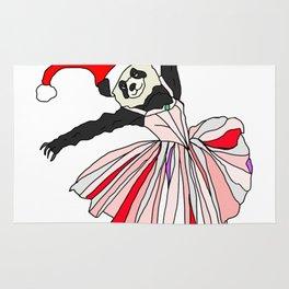 Happy Holidays Secret Santa Panda Ballerina Rug