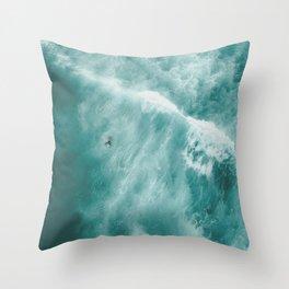 Surfer Surfing Bondi Beach Throw Pillow
