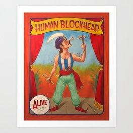 Human Blockhead Art Print