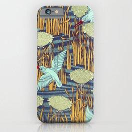 Maurice Pillard Verneuil - Martins-pêcheurs et butome en ombelle iPhone Case