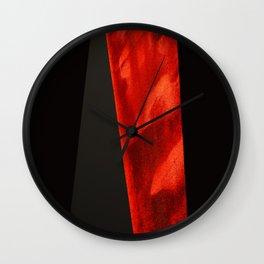red shape Wall Clock