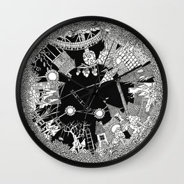 Town cirkle Wall Clock