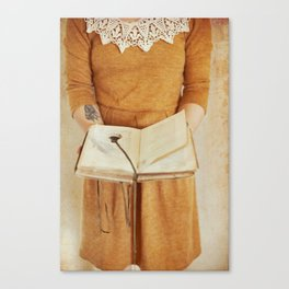 Secret Book Canvas Print