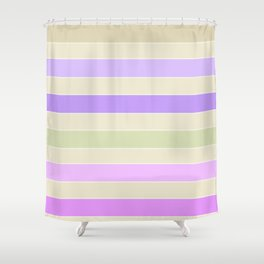 Leela 1 . Pastel Shower Curtain