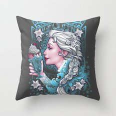 Ice Cream Queen Throw Pillow