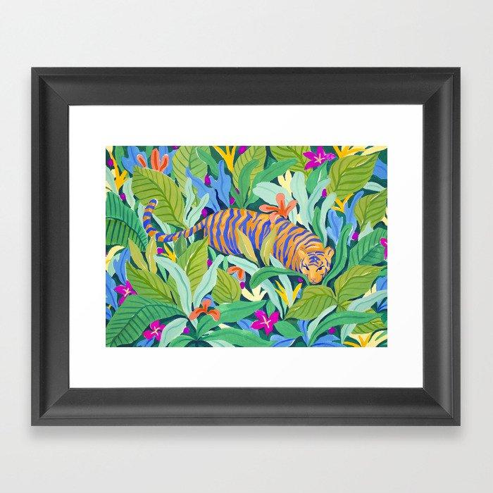 Colorful Jungle Gerahmter Kunstdruck