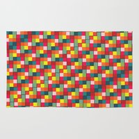 pixel art Area & Throw Rugs featuring Pixel by Colocolo Design | www.colocolodesign.de