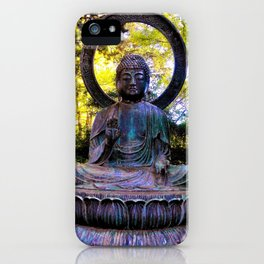 Buddha in the park iPhone Case