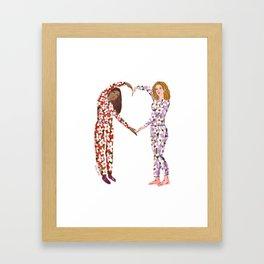 Pajama Friends Framed Art Print