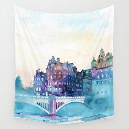 Winter in Edinburgh Wall Tapestry