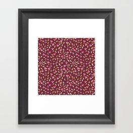 Botanical: Maroon Vine Framed Art Print
