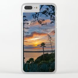 Colorful Sunset at Lookout Point Clear iPhone Case