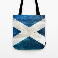 scotland Tote Bags featuring Scotland by Arken25