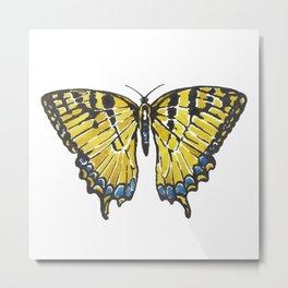 Yellow Swallowtail Butterfly Metal Print