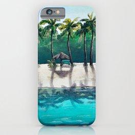 Honeymoon Beach Palm iPhone Case