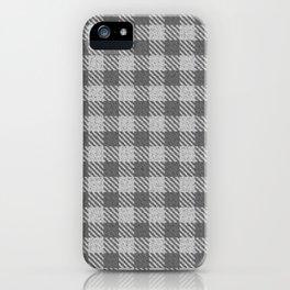 Dark Grey Buffalo Plaid iPhone Case