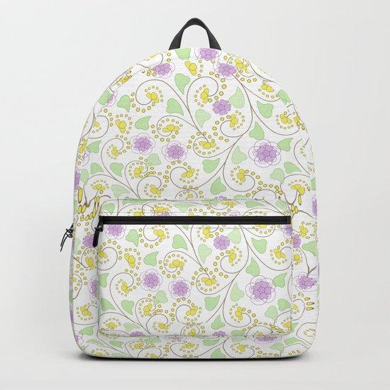 Cute floral pattern . Backpack