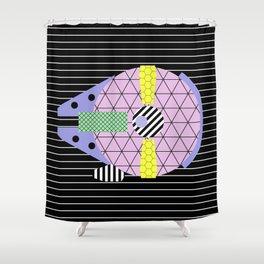 Millennium Falcon Geometric Style - Pastel, abstract design Shower Curtain