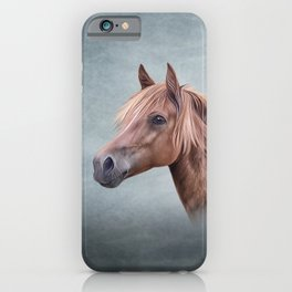 Drawing portrait  horse iPhone Case
