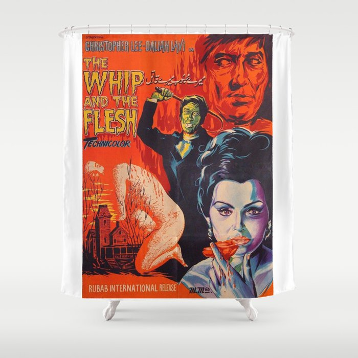The Whip And Flesh Vintage Horror Movie Poster Shower Curtain
