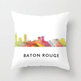 Baton Rouge Louisiana Skyline Throw Pillow