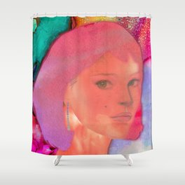 HELLO STRANGER Shower Curtain