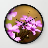 flora Wall Clocks featuring Flora  by MVision Photography
