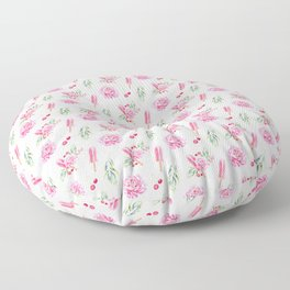 Tropical Chill Rose Pattern Floor Pillow