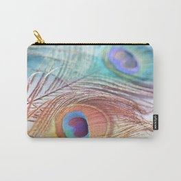 Pastel Boho Peacock Carry-All Pouch