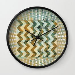 Geo composition Wall Clock