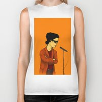 lou reed Biker Tanks featuring Lou Reed by Nick Gibney