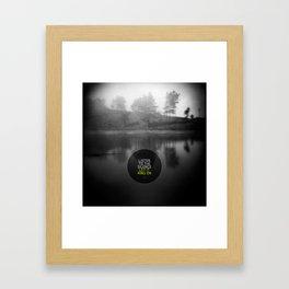 Listen to the silence, let it ring on Framed Art Print