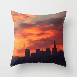 A Dragon over San Francisco Throw Pillow