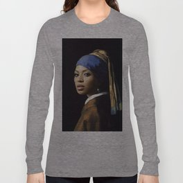 Bey with a Pearl Earring Long Sleeve T-shirt