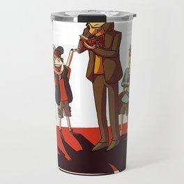 Layton in Gravity Falls Travel Mug