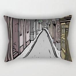 Empty street Rectangular Pillow