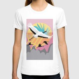 Majestic Crane {6} T-shirt